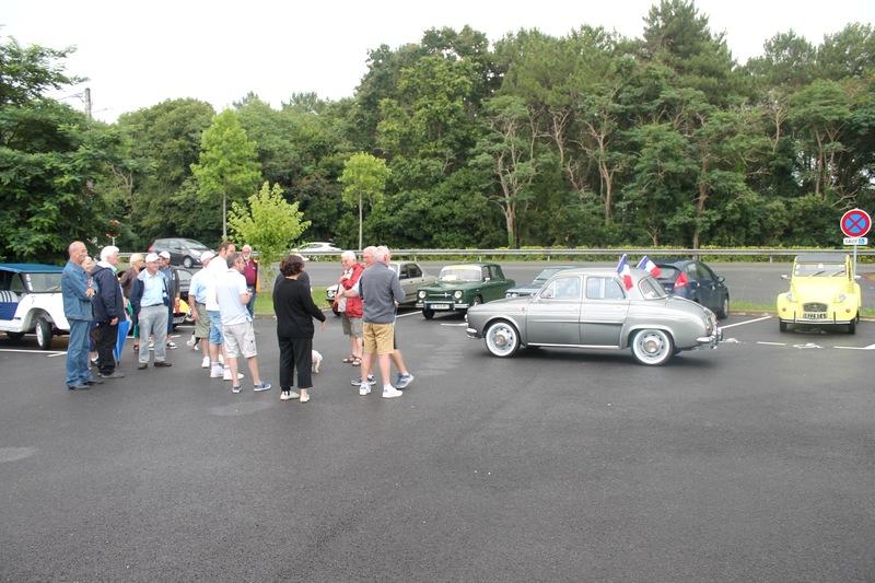 Labenne, l'accueil du club Auto-Retro du Seignanx