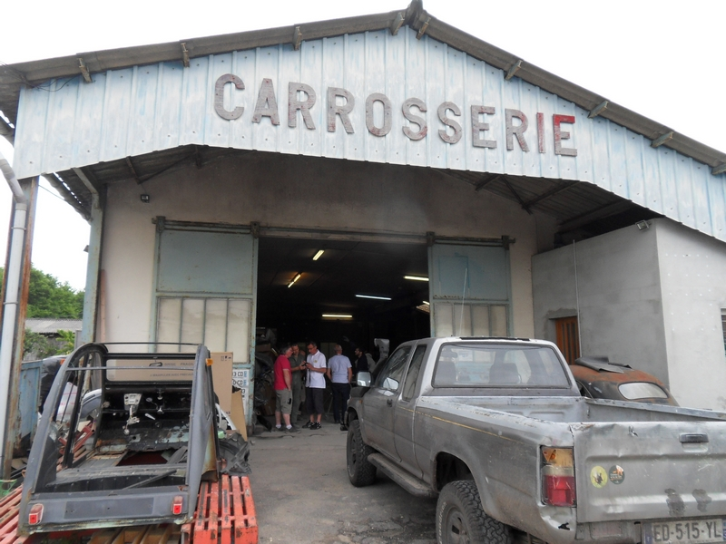 Atelier de carrosserie entre Béliet et Belin (Gironde)