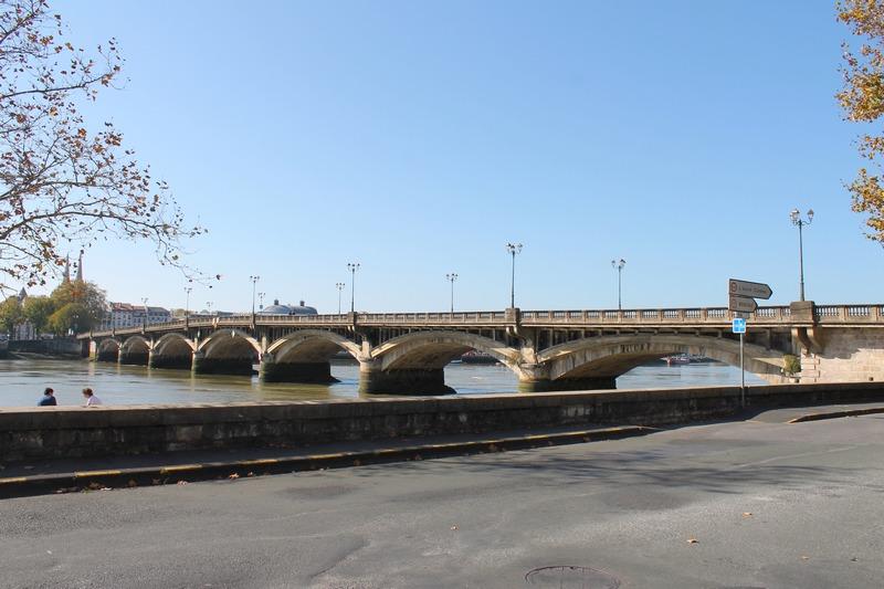 Bayonne, le pont Saint-Esprit sur l'Adour
