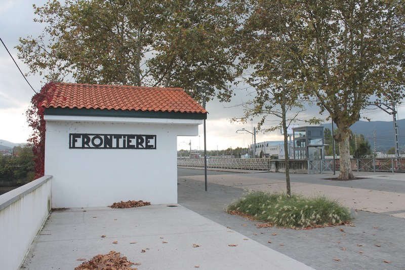 L'ancien poste de gendarmerie, pont international d'Hendaye
