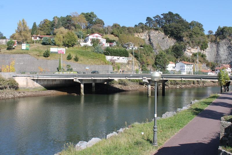 Béhobie, le pont international